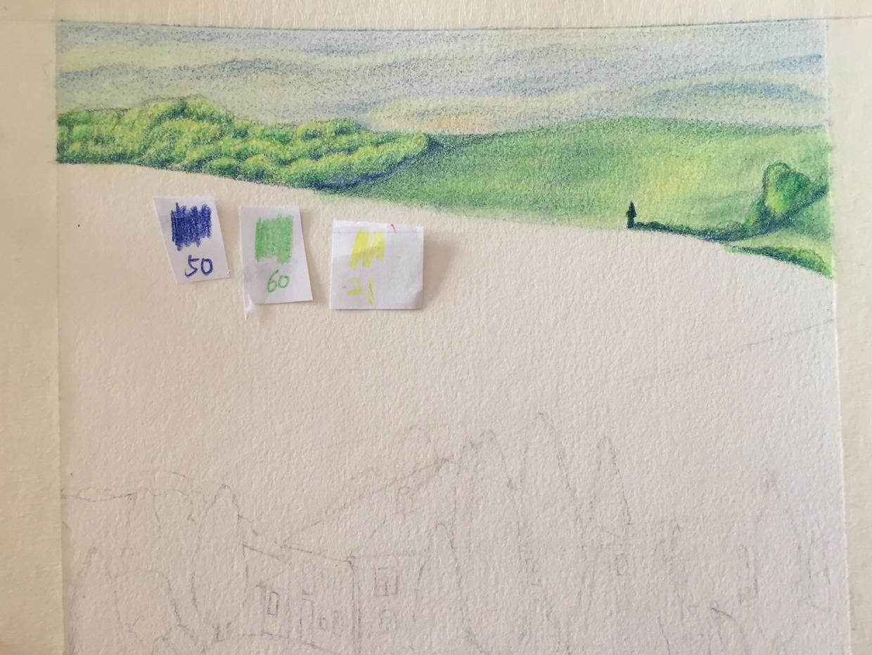 彩铅· 教程 | 与你画一处风景