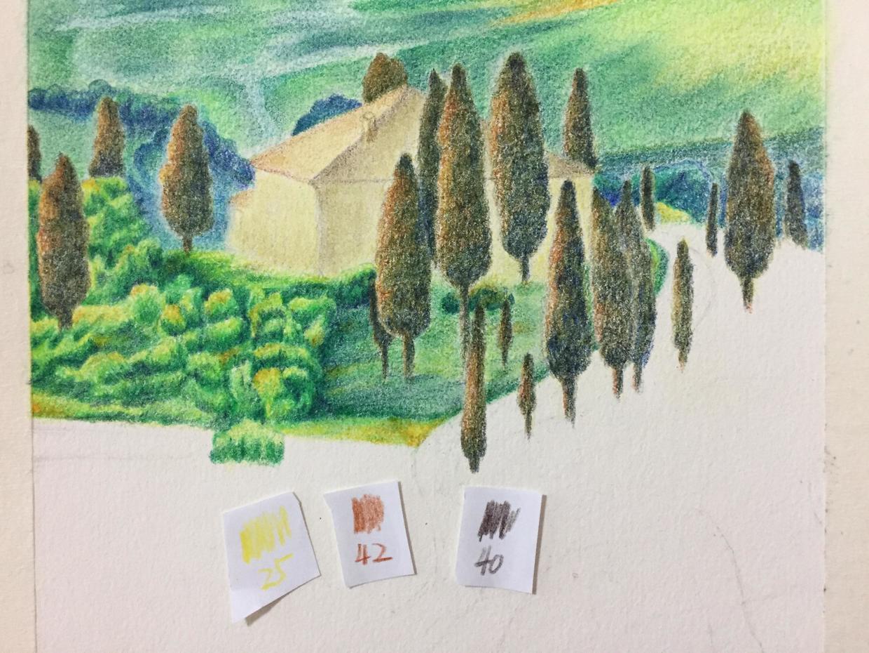 彩铅手绘土房子